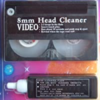 VHS Video Cassette Head Cleaner 8mm Video Camera with Fluid Solution New