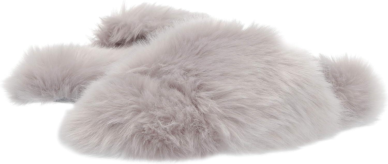 Mae Womens Fuzzy One-Strap Slipper Brand
