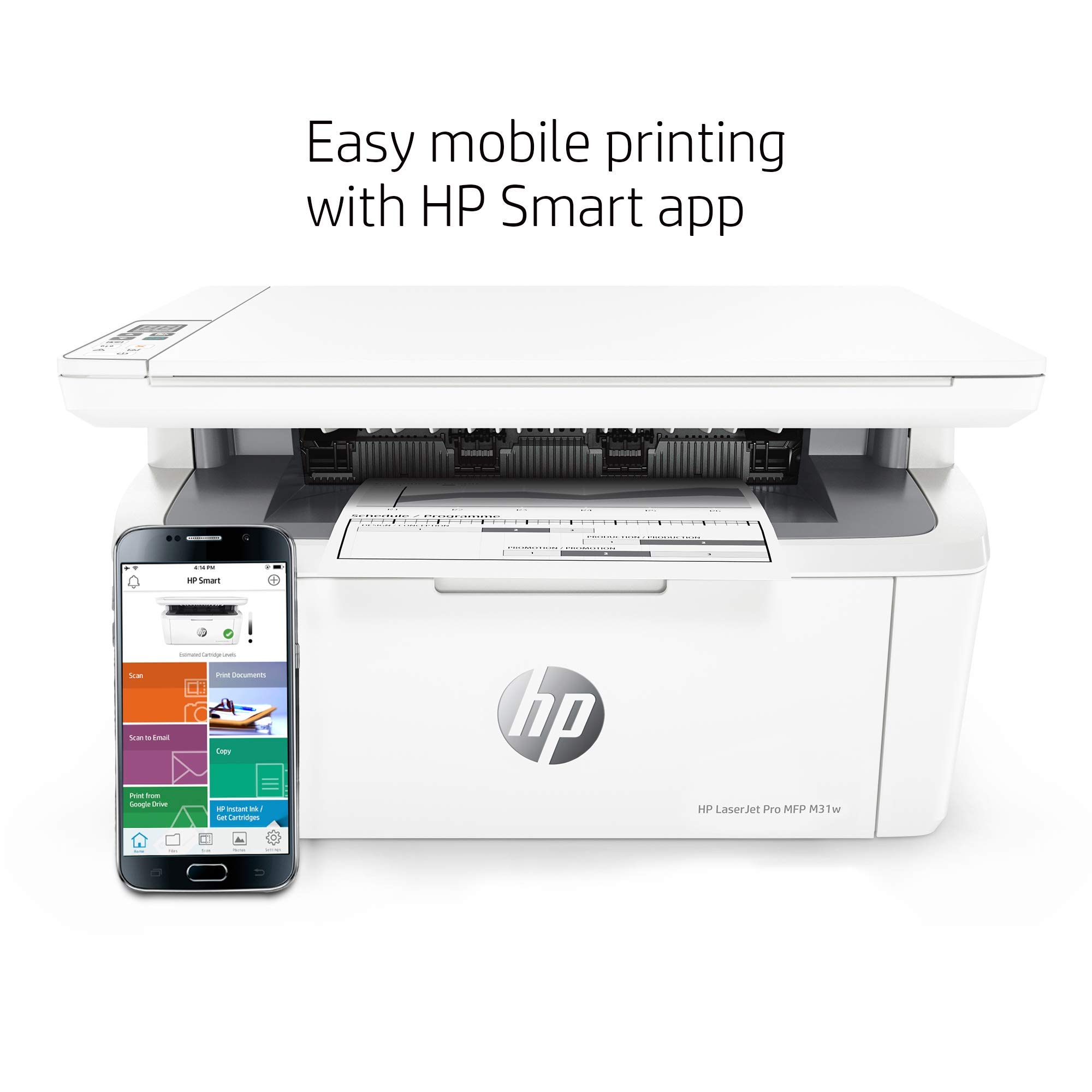 HP Laserjet Pro M31w All-in-One Wireless Monochrome Laser Printer with Mobile Printing (Y5S55A) (Renewed) by HP (Image #7)