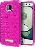 Moto Z Play Case, Cimo [Shockproof] Heavy Duty Shock Absorbing Hybrid Protection Cover for Motorola Moto Z Play Droid (2016) - Pink