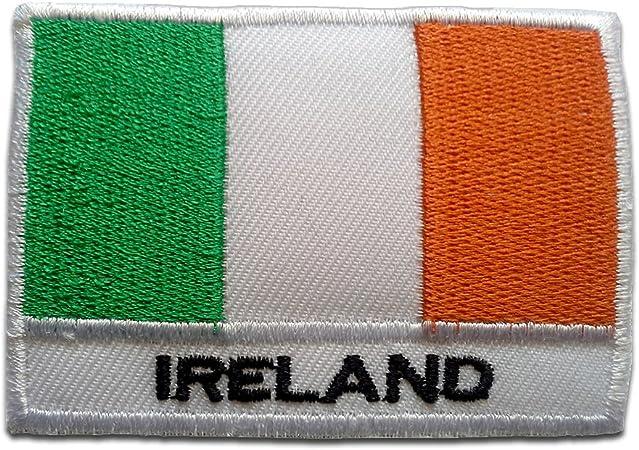 Parches - Irlanda bandera - blanco - 5,3x7,6cm - termoadhesivos bordados aplique para ropa: Amazon.es: Hogar