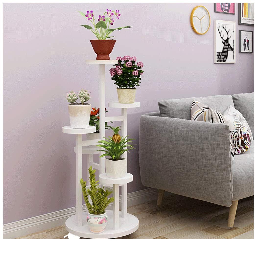 YONGYONG Flower Shelf Removable Design Multi-Layer Indoor Flower Table Living Room Space Space Green Shelf Rack Balcony Home Drop Subway Art Pot Rack (Color : C, Size : 45120cm)