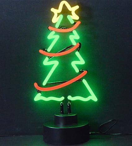 neonetics christmas tree with garland neon sculpture - Christmas Tree With Garland
