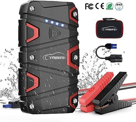 Starthilfe Powerbank 15000mAh Tragbare Auto Starthilfe 12V Autobatterie Anlasser mit LED Taschenlampe