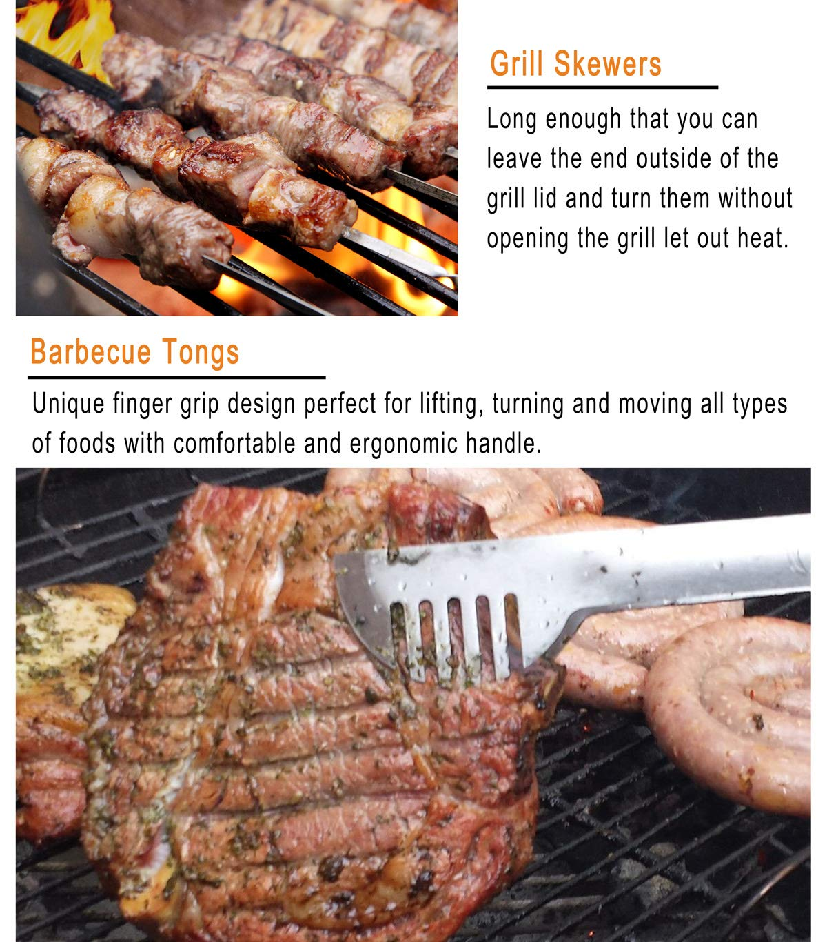 grilljoy 25 Piece BBQ Grill Tool Set- Premium Stainless Steel Grilling Accessories with Heat Proof Grip in Aluminum Case, Perfect BBQ Tools Set Gift for Father's Day, Birthday, Camping and Tailgating by grilljoy (Image #6)