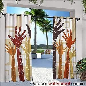 Cortinas exteriores y exteriores modernas con diseño de ladrillos ...