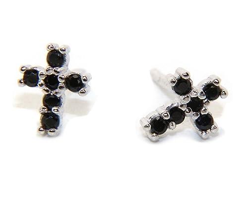 orecchini croce con pietre