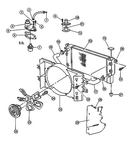 Amazon Com Mopar 5202 7710ab Engine Cooling Fan Clutch Automotive