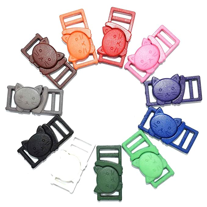 10mm Colorful FinalZ 50 PCS of 3//8 Plastic Tri-glide//Triglide for Belt Backpack