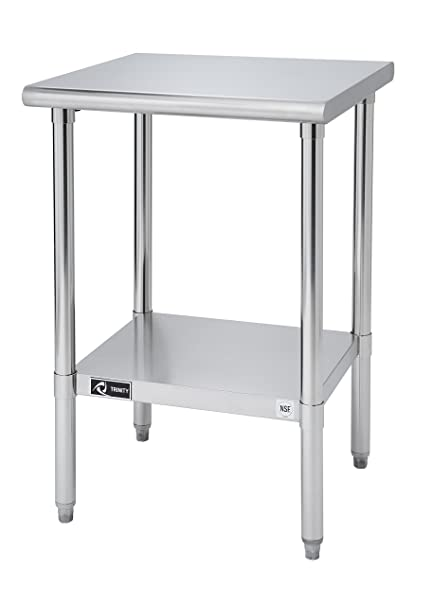 TRINITY EcoStorage NSF Stainless Steel Table, 24 Inch