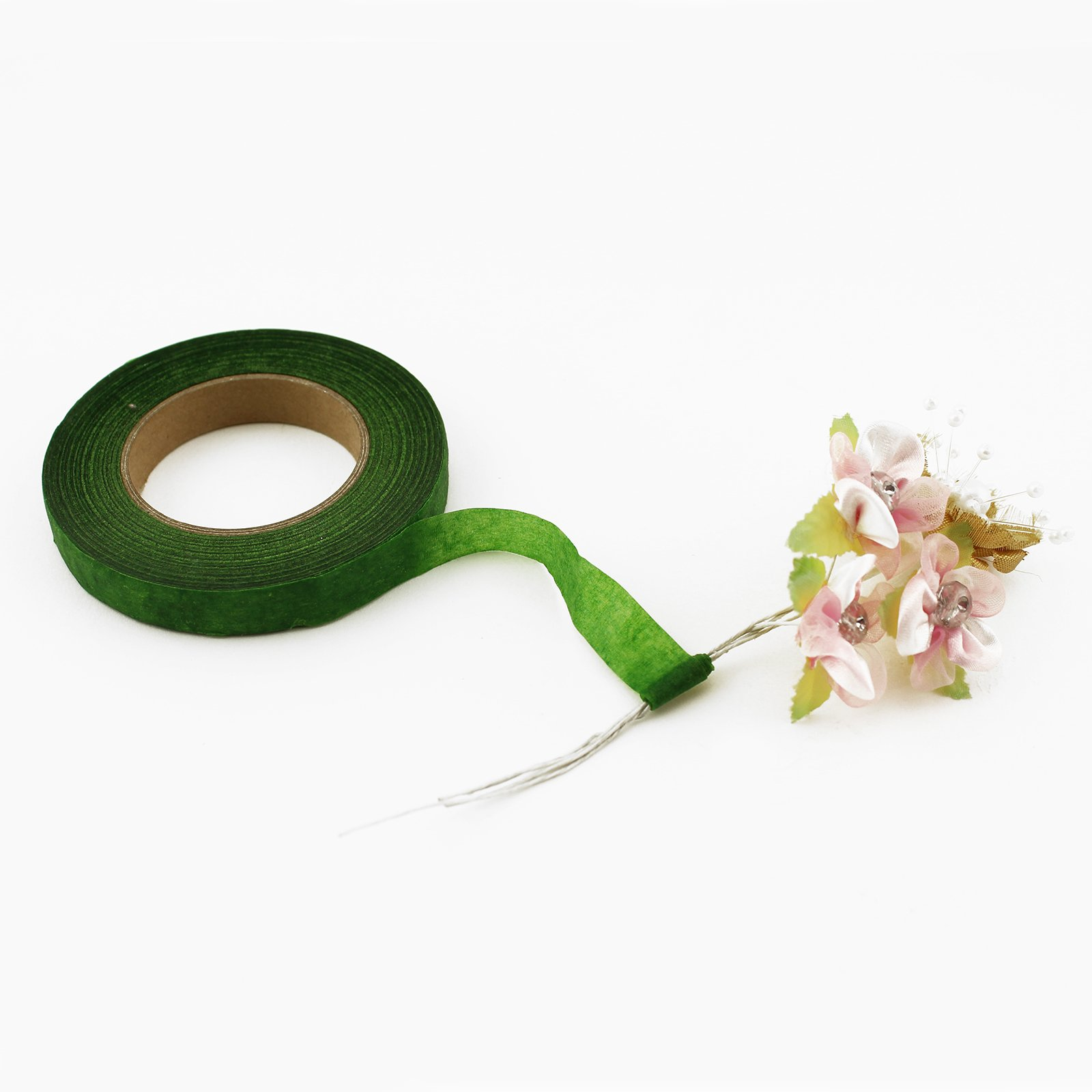 Buthneil 8 Pack Floral Tape Stem Wrap for Bouquet Flowers 1//2 x 30 Yards Green