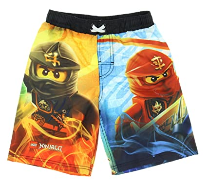 91b22bc558 Image Unavailable. Image not available for. Color: Lego Ninjago Boy Swim  Trunks Shorts ...