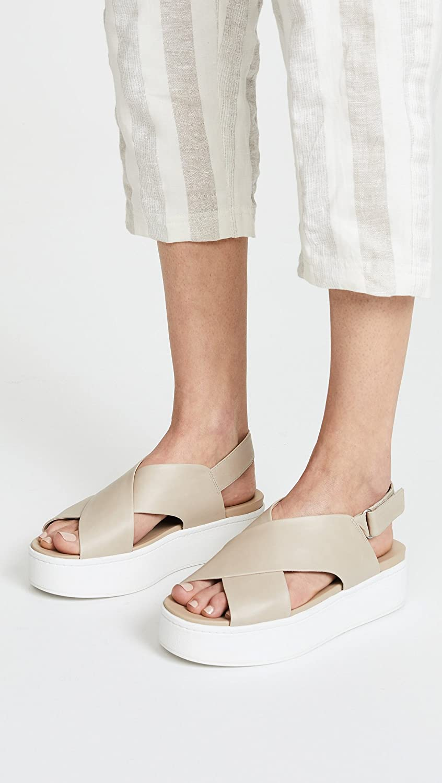 5f82c4f2ab2b Amazon.com  Vince Women s Weslan Crisscross Flatform Sandals  Shoes