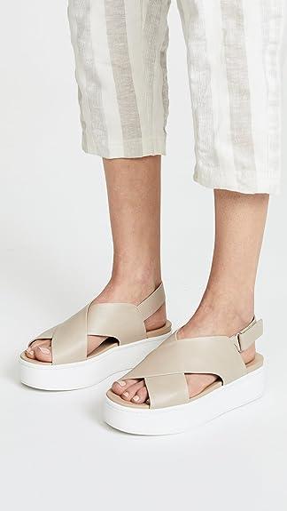 Weslan Crisscross Flatform Sandals Vince vyOxOfI6