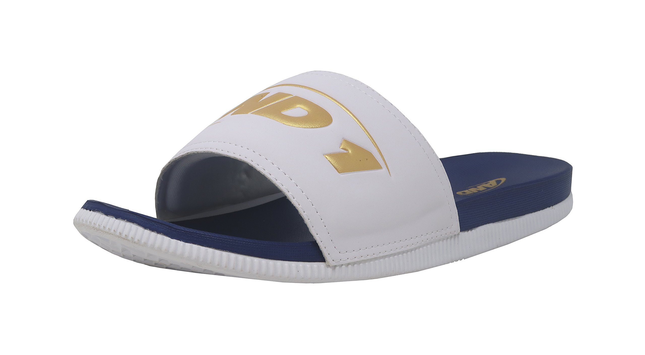 085bae76eef49 AND1 Men's Haven Basketball Shoe, White/Pale Gold/True Navy, 12 M US
