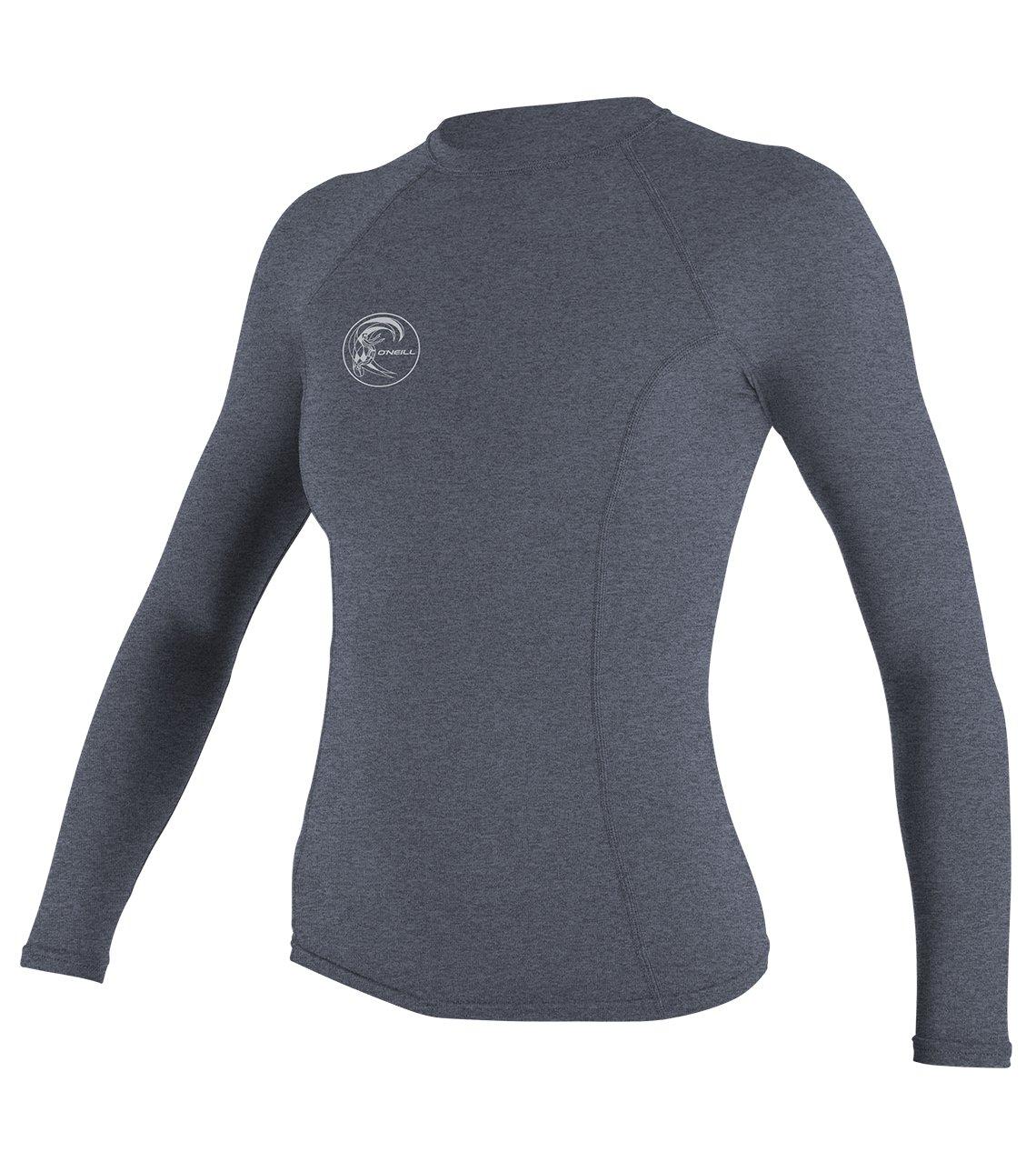 O'Neill Wetsuits Women's Hybrid UPF 50+ Long Sleeve Rash Guard, Mist, Small by O'Neill Wetsuits