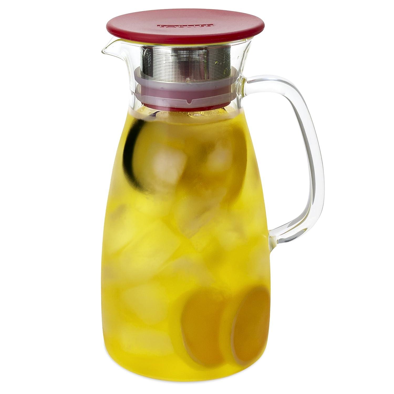 FORLIFE Mist Glass Ice Tea Jug, 50-Ounce, Black 803-BLK