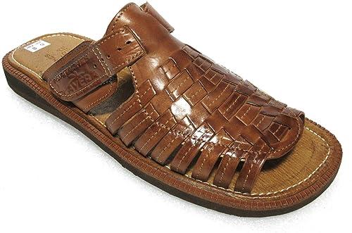Men/'s Authentic Leather Soft Handmade Sandals Flip Flop Shoes Slip on Huaraches
