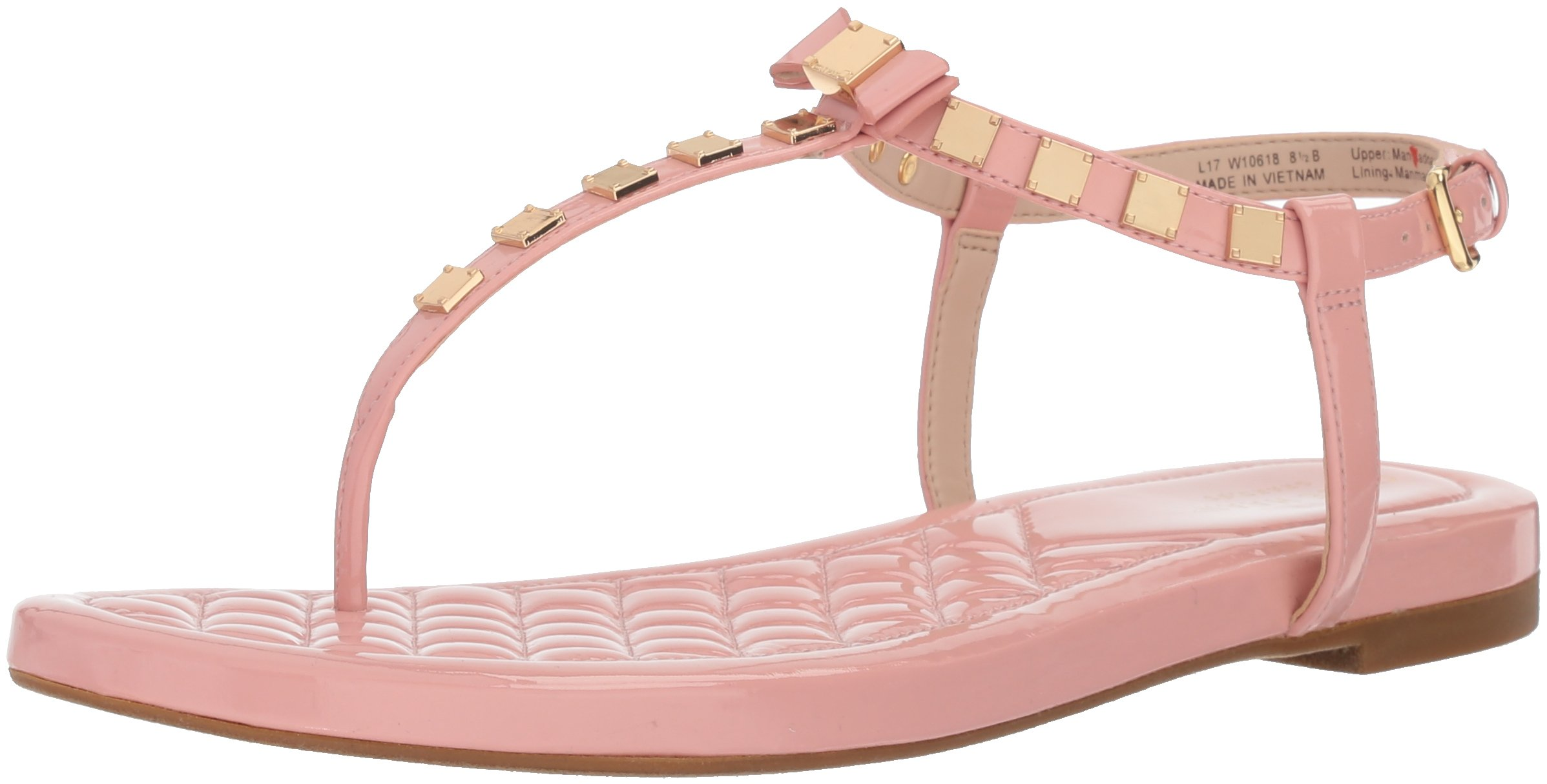Cole Haan Women's Tali Mini Bow Studded Sandal, Coral Almond, 11 B US