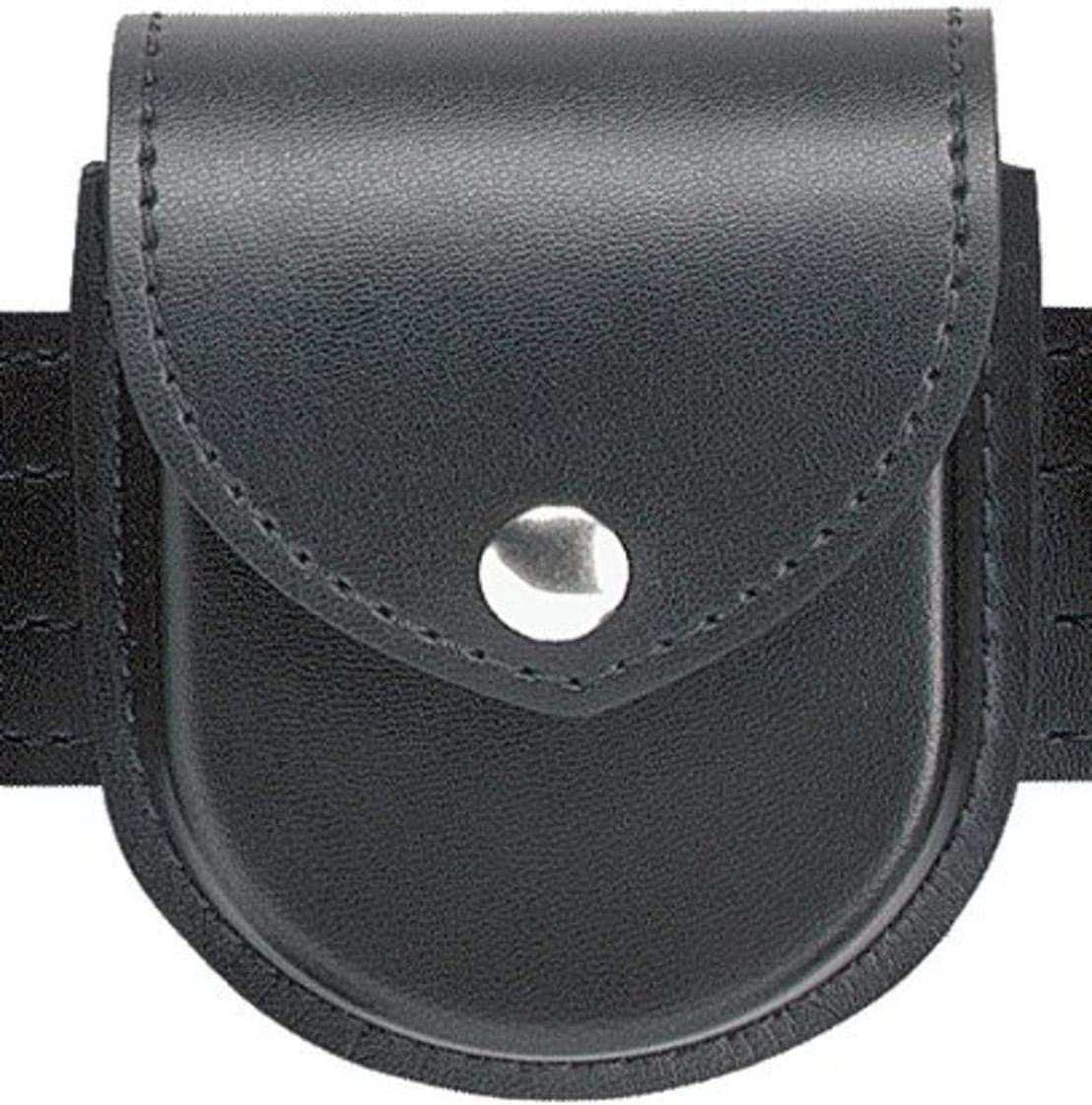 Safariland Duty Gear Chrome Snap Flap Top Double Handcuff Pouch (Plain Black)