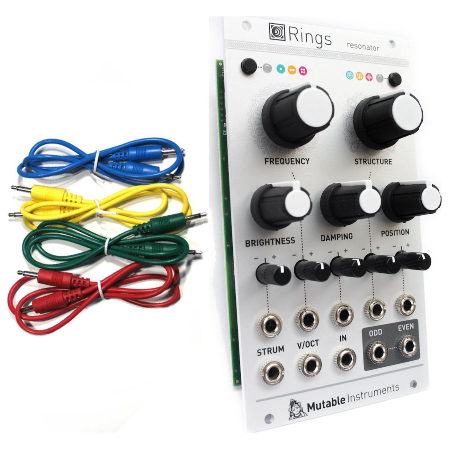Mutable Instruments Rings Resonator Eurorack Module w/ 4 Cables