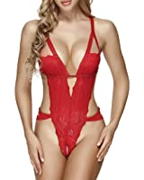 Ruzishun Sexy Lace Teddy Lingerie for Women Babydoll