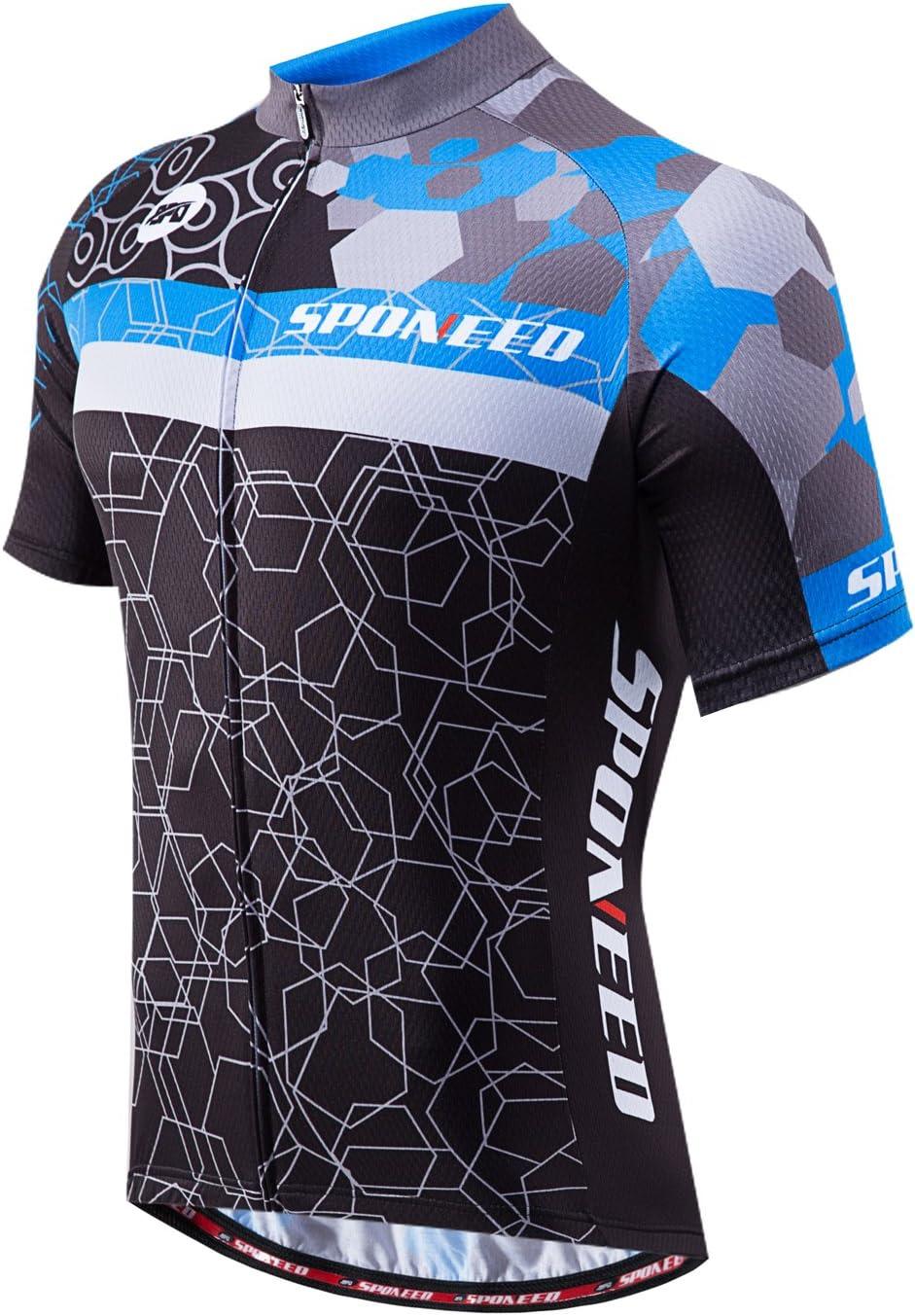 Zip Breathable Pockets Sports Mens MUDDYFOX Short Sleeved Cycling Jersey Top