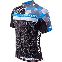 sponeed Men s Cycling Jerseys Tops Biking Shirts Short Sleeve Bike Clothing  Full Zipper Bicycle Jacket Pockets 0f020783c