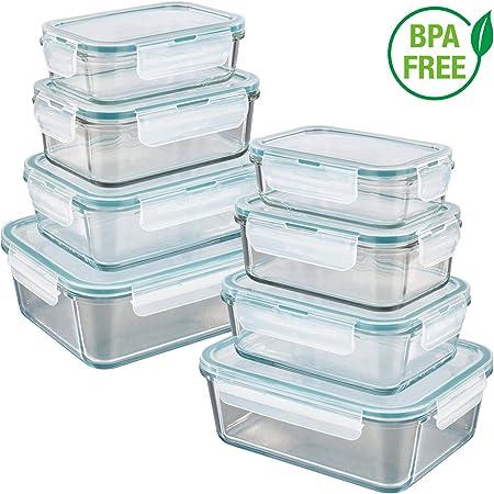 GOURMETmaxx Envases para cocina de cristal | Set de 8 unidades con ...