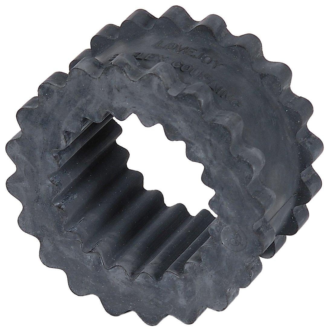 Lovejoy 35569 Size 6JE Solid Design S-Flex Coupling Sleeve, EPDM Rubber, 3.75'' OD, 1.88'' Elastomer Length, 450 in-lbs Nominal Torque