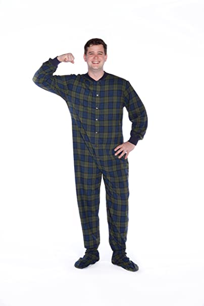 Big Feet Pyjama Co Pijamas / (reloj) adulto patas pijamas de algodón franela Pequeño