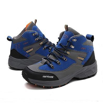 10feb249af6fe Laiwodun Chaussures Montantes de Randonnée Homme Chaussures Sports Outdoors  Chaussures de Trail Marche Sécurité Multisports Outdoor