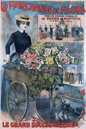 d54337fb1 La Marchande de Fleurs Vintage Poster (artist  Galice) France (24x36 Fine  Art Giclee Gallery Print