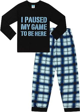 Pijama largo con texto en inglés