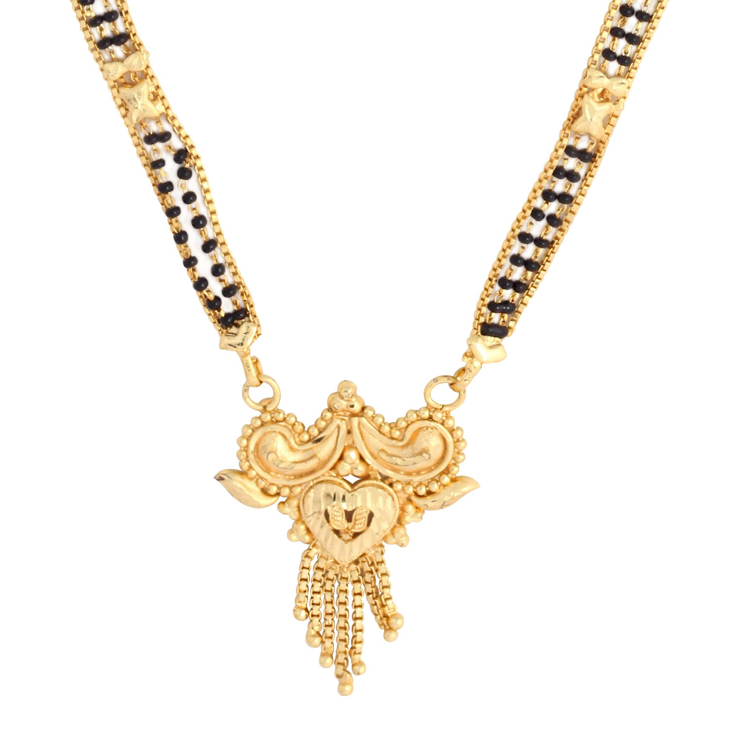 Pooja 4 Line 23.5K Gold Plated Mangalsutra For Women: Amazon.in ...