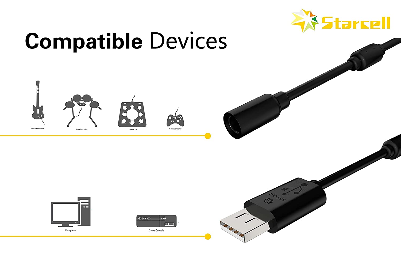 Act - Cable USB para Mando con Cable Xbox 360 (2 Unidades), Color ...