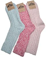 3 Pairs of Ladies Thick & Warm Wool Blend socks Size 4-7