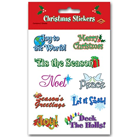 Christmas Expressions.Beistle Christmas Expressions Stickers Sheet 4 3 4 Inch By 7 1 2 Inch 4 Sheets Per Package