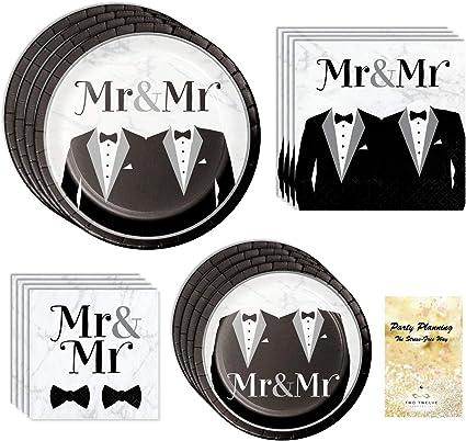 Groom Card Gay Couple Wedding Card Elegant Mr /& Mr Wedding Card Mens/' Tuxedo Wedding Card