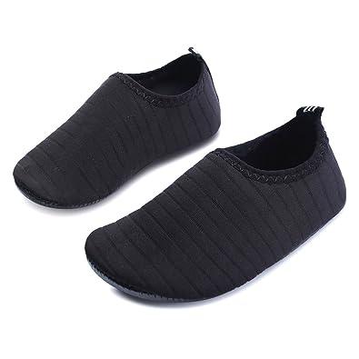 b5932f09bcf76e JOINFREE Kids Black Swim Water Shoes Socks Boys Girls Light Comfy Beach  Shoes Quick Dry Pool