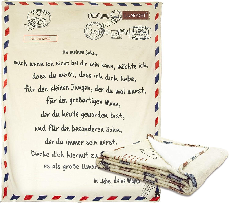 Flanelldecke An Meine Tochter,Brief Briefe Decke An Meinen Sohn Und Meine Tochter Super Weiche Winter Warm Mail Decke Flanell Decke Mit Aufbewahrungstasche