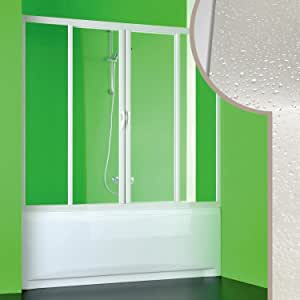 Forte Puerta de Ducha de bañera 160 CM en Acrílico Mod. Plutone 2 ...
