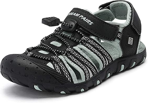 DREAM PAIRS Toddler Boys Girls Light Up Athletic Outdoor Summer Sports Sandals