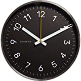 Cloudnola Now Black and Silver Wall Clock Diam 12