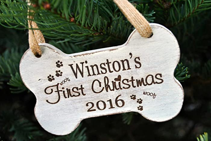 Dogs First Christmas Ornament.Amazon Com Puppy First Christmas Ornament Dog First