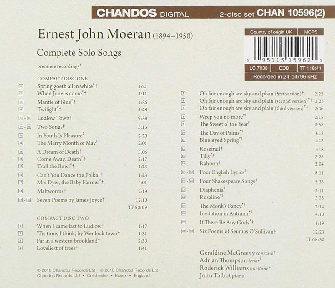 Moeran Solo Songs Amazoncouk Music