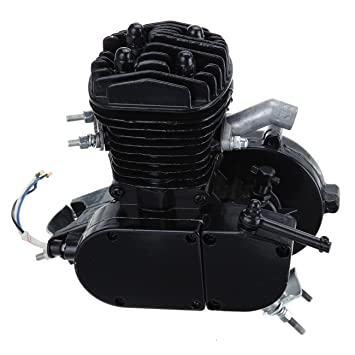 iglobalbuy Negro con ventilación 80 cc 2 tiempos motor Motor bicicleta de montaña para bicicleta carretera