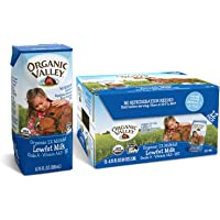 Organic Valley, Milk Boxes, Shelf Stable 1% Milk, Healthy Snacks, 6.75oz (Pack of 12)