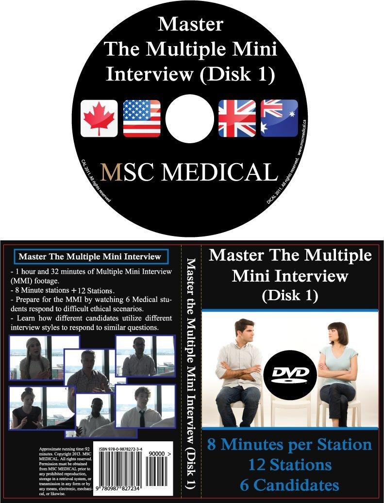 master the multiple mini interview mmi disk ca msc master the multiple mini interview mmi disk 1 ca msc medical dvd