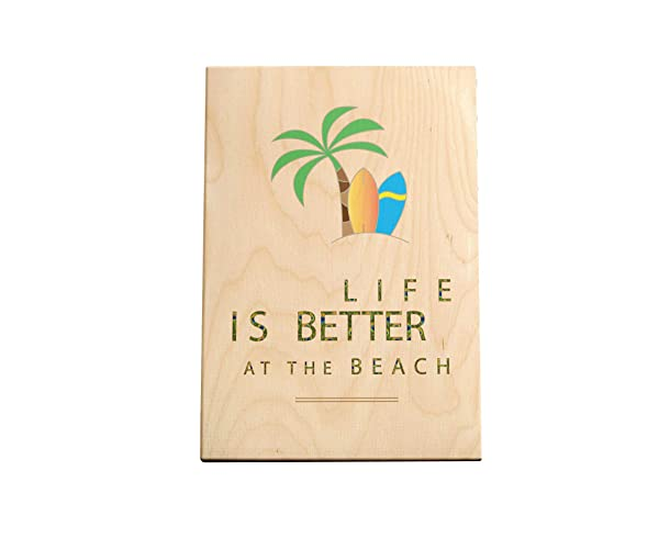 Live Is Better At The Beach | Tabla de Madera impresa ...